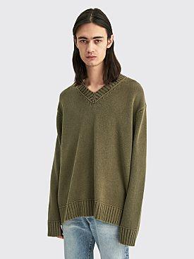 Acne Studios V-Neck Sweater Dusty Green