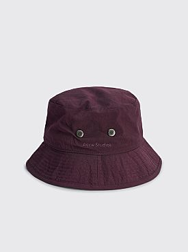 Acne Studios Nylon Bucket Hat Maroon Red