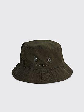 Acne Studios Nylon Bucket Hat Cedar Green