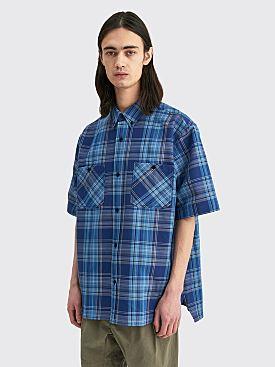 Acne Studios Plaid Boxy Shirt Blue / Navy