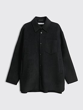 Acne Studios Wool Shirt Jacket Black