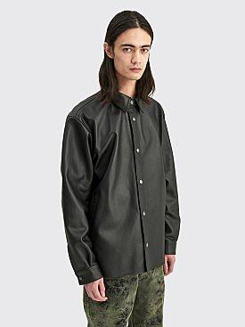 Acne Studios Lark Nappa Leather Overshirt Black
