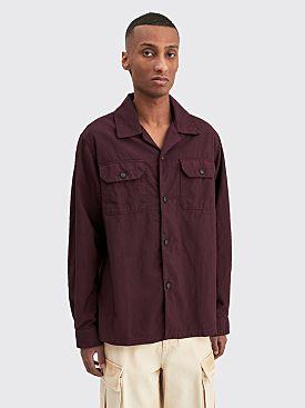 Acne Studios Long Sleeve Shirt Maroon Red