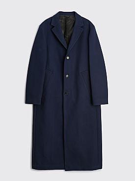 Acne Studios Tailored Twill Coat Navy