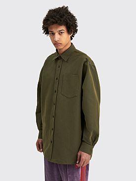 Acne Studios Oversized Shirt Hunter Green