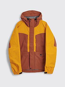 Acne Studios Technical Color Block Jacket Cognac Brown / Saffron Orange