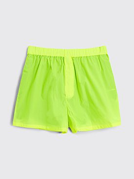 Acne Studios Technical Shorts Neon Yellow