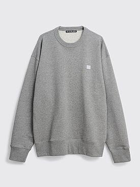 Acne Studios Fonbar Face Sweatshirt Light Grey Melange