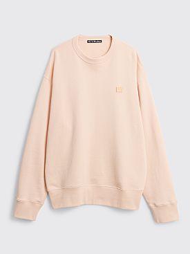 Acne Studios Fonbar Face Sweatshirt Powder Pink