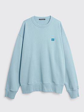 Acne Studios Fonbar Face Sweatshirt Powder Blue