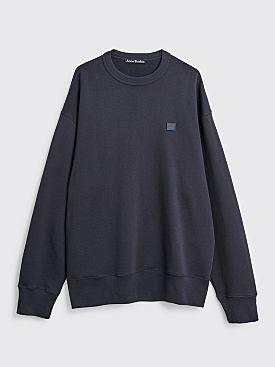 Acne Studios Fonbar Face Sweatshirt Navy