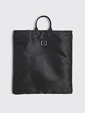Acne Studios Face Logo Plaque Tote Bag Black