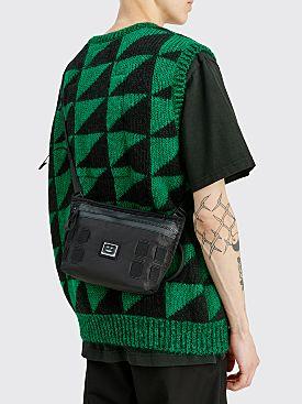 Acne Studios Face Logo Plaque Crossbody Bag Black
