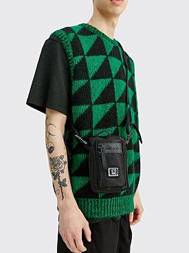 Acne Studios Face Logo Plaque Pocket Bag Black