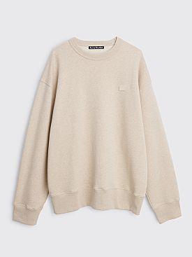 Acne Studios Fonbar Face Sweatshirt Oatmeal Melange