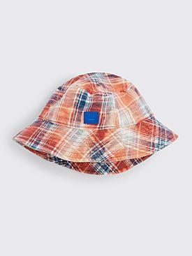 Acne Studios Face Flannel Bucket Hat Pink / Blue