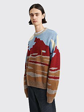 Acne Studios Knit Jacquard Sweater Brown / Multi