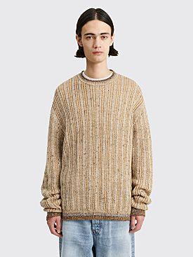 Acne Studios Knit Wool Sweater Almond Brown