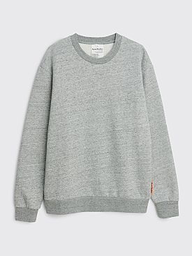 Acne Studios Pink Label Crew Sweater Marble Grey Melange