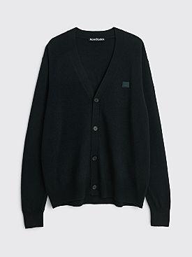 Acne Studios Face Wool Cardigan Black