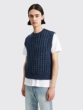 Acne Studios Cable Knit Vest Mid Blue