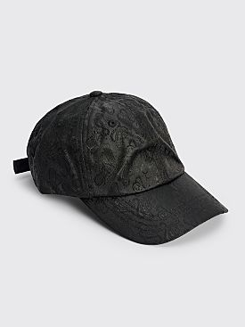 Acne Studios Paisley Jacquard Baseball Cap Black