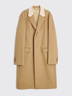 Acne Studios Wool Cashmere Coat Camel Brown