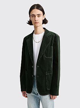 Acne Studios Corduroy Suit Jacket Juniper Green