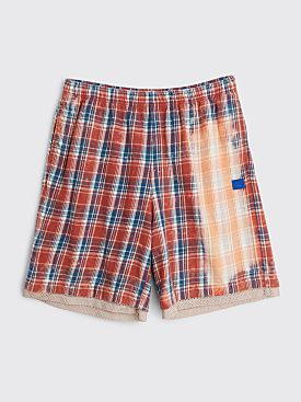 Acne Studios Face Flannel Shorts Pink / Blue