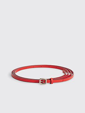 Acne Studios Thin Leather Belt Dusty Red