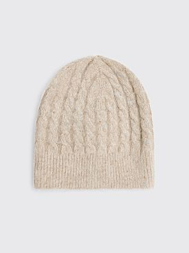 Acne Studios Cable Knit Beanie Biscuit Beige