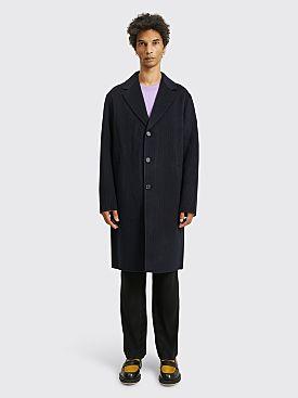 Acne Studios Pinstripe Wool Coat Navy / Grey