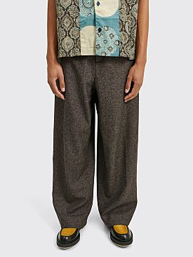 Acne Studios Tailored Trousers Brown Melange