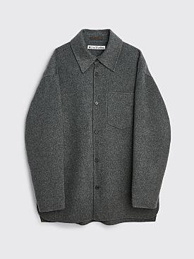 Acne Studios Oversized Double Face Shirt Jacket Grey