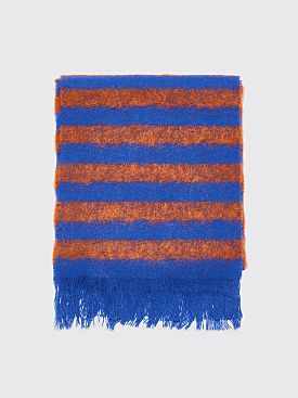 Acne Studios Stripe Scarf Rust / Blue