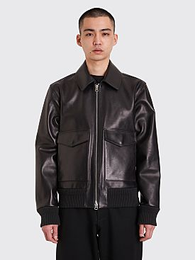 Acne Studios Lazlo Leather Jacket Black