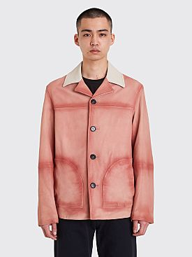 Acne Studios Lance Leather Jacket Ginger Orange