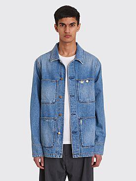 Acne Studios Blå Konst Albyr Mid Ripped Jacket Indigo Blue