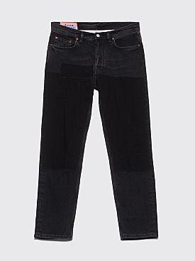 Acne Studios Blå Konst River Jeans Black Patch
