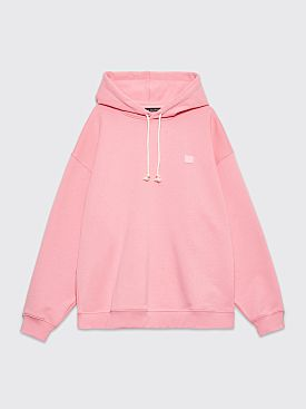 Acne Studios Farrin Face Hooded Sweatshirt Blush Pink