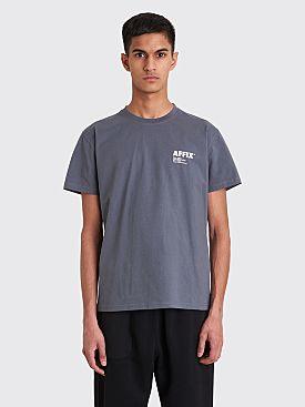 AFFIX Standardise Logo Print T-shirt Utility Grey