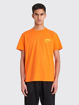 AFFIX Standardise Logo Print T-shirt Safety Orange