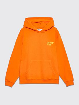 AFFIX Standardise Print Logo Hooded Sweatshirt Safety Orange