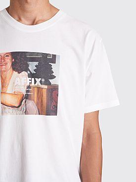 AFFIX Radio Print T-shirt White