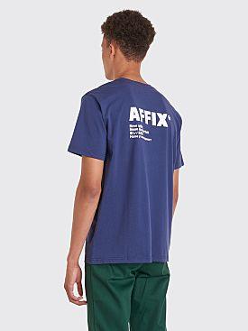 AFFIX Logo Print T-shirt Navy