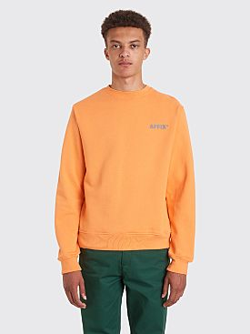 AFFIX Basic Reflective Logo Sweatshirt Orange