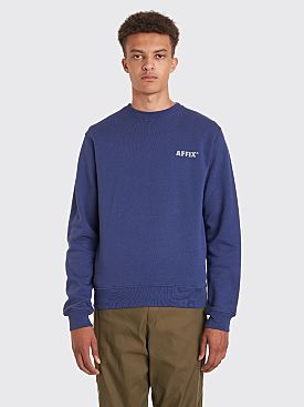 AFFIX Basic Reflective Logo Sweatshirt Navy