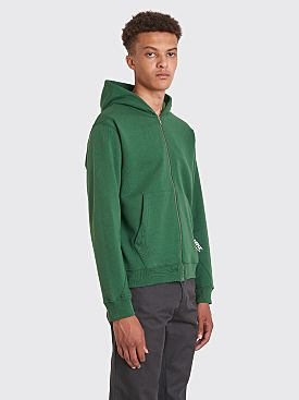 AFFIX Basic Zip Up Hooded Sweatshirt Green