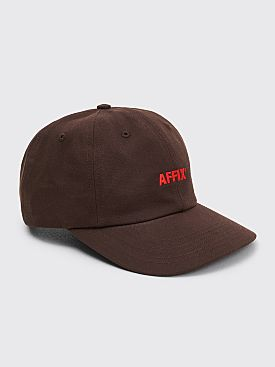 AFFIX Basic Logo Cap Brown / Red
