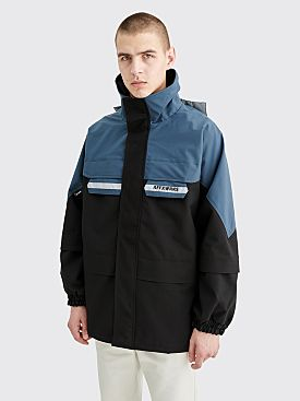 AFFIX Border Parka Coat Black / Petrol